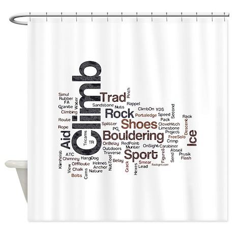 Climbing Words Shower Curtain