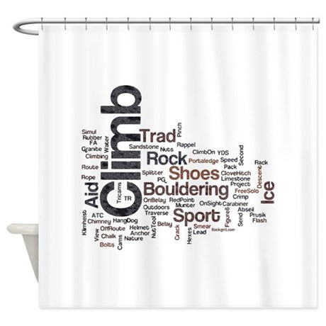 Climbing Words Shower Curtain By Rockgrrl