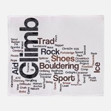 Climbing Words Throw Blanket