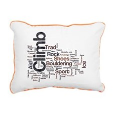 Climbing Words Rectangular Canvas Pil