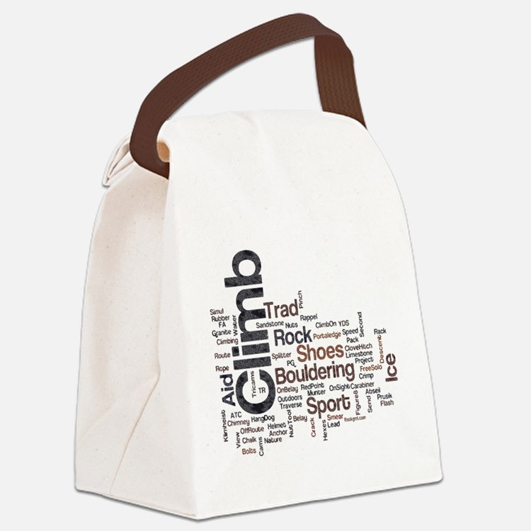 Climbing Words Canvas Lunch Bag