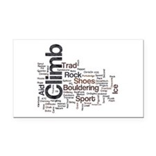 Climbing Words Rectangle Car Magnet