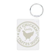 My Chicken Tastes Good Keychains