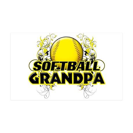 Softball Grandpa (cross).png 35x21 Wall Decal