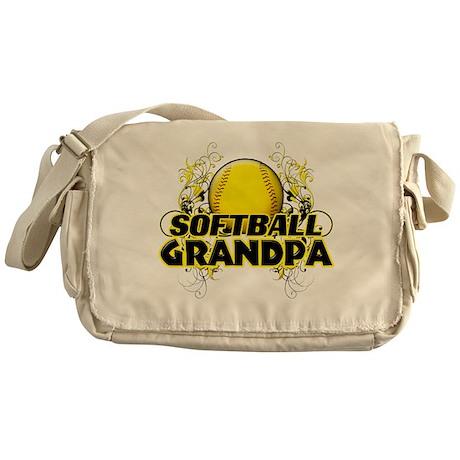 Softball Grandpa (cross).png Messenger Bag
