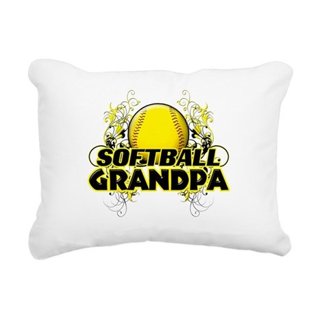 Softball Grandpa (cross).png Rectangular Canvas Pi