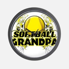 Softball Grandpa (cross).png Wall Clock