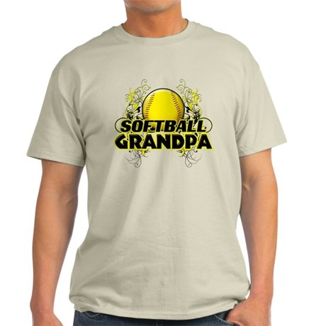 Softball Grandpa (cross).png Light T-Shirt