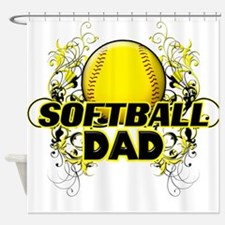 Softball Dads (cross).png Shower Curtain