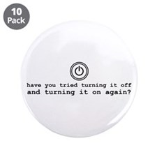 "Computer Advice: Turn It Off 3.5"" Button (10 pack)"