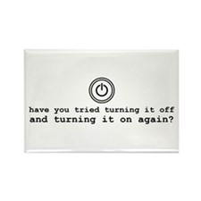 Computer Advice: Turn It Off Rectangle Magnet