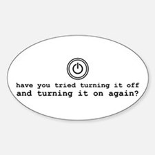 Computer Advice: Turn It Off Decal