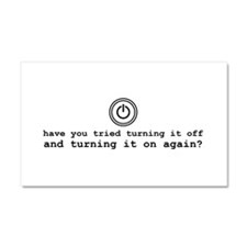 Computer Advice: Turn It Off Car Magnet 20 x 12