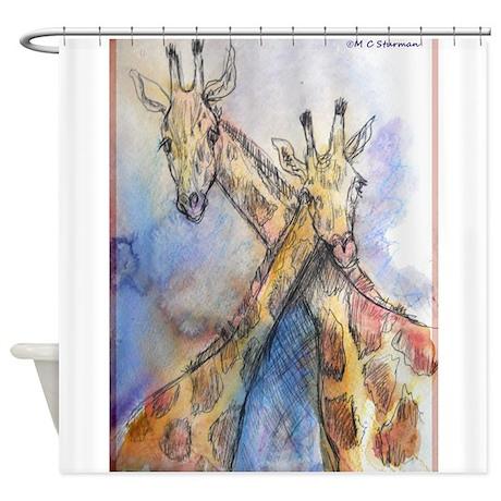 Giraffes! Wildlife Art Shower Curtain