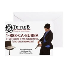 Bubbas Business Card Greeting Card