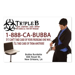 Bubbas Business Card Postcards (Package of 8)