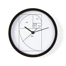 Fibonacci Spiral Wall Clock