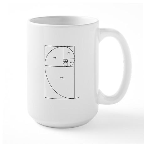 Fibonacci Spiral Large Mug