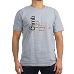 Climbing Words Men's Fitted T-Shirt (dark)