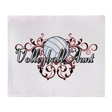 Volleyball Aunt (tribal).png Throw Blanket