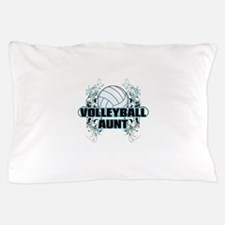 Volleyball Aunt (cross).png Pillow Case