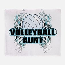 Volleyball Aunt (cross).png Throw Blanket
