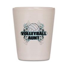 Volleyball Aunt (cross).png Shot Glass