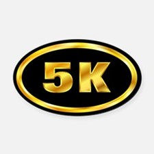 5 K Gold Oval Car Magnet