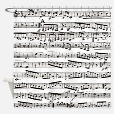 Vintage music Shower Curtain