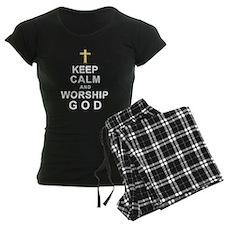 Keep Calm and Worship GOD Pajamas