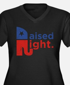Raised Right Women's Plus Size V-Neck Dark T-Shirt