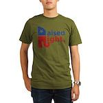 Raised Right Organic Men's T-Shirt (dark)