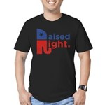 Raised Right Men's Fitted T-Shirt (dark)