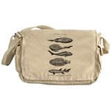 Fossil fish Canvas Bags