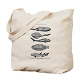 Fossil fish Totes & Shopping Bags