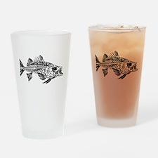 Striped Bass Skeleton Drinking Glass