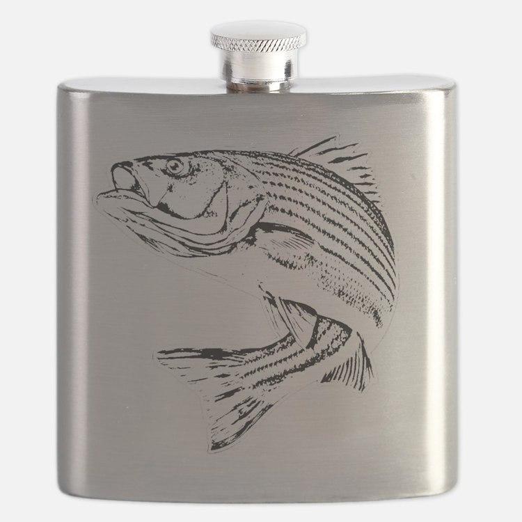 Striped Bass Flask