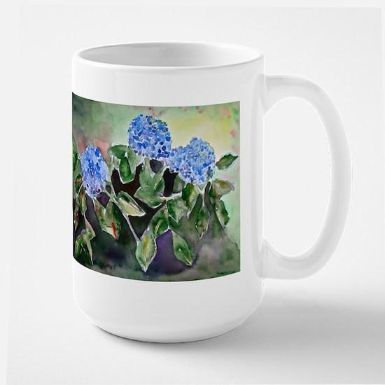 Blue Hydrangeas Large Mug