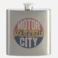 Detroit Vintage Label Flask