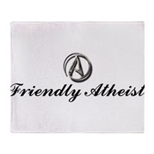 Friendly Atheist Throw Blanket