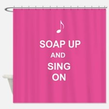 Singing in the Bath Shower Curtain