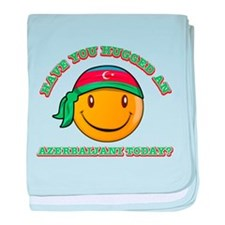 Cute Azerbaijani Smiley Design baby blanket