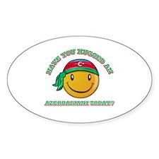 Cute Azerbaijani Smiley Design Decal