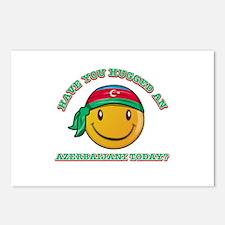 Cute Azerbaijani Smiley Design Postcards (Package