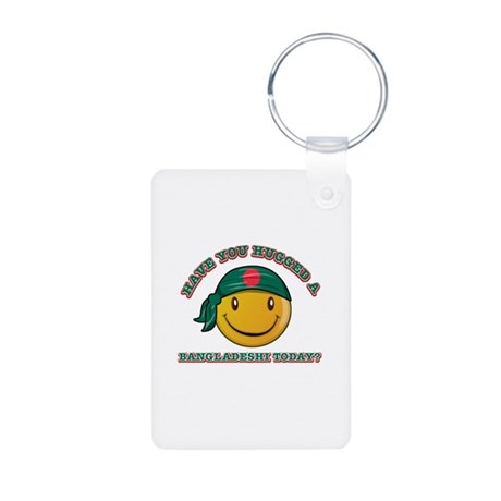 Cute Bahraini Smiley Design Aluminum Photo Keychai