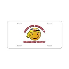 Cute Bruneian Smiley Design Aluminum License Plate