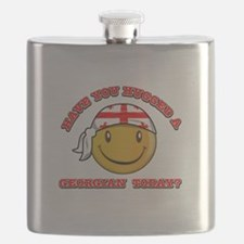 Cute Georgian Smiley Design Flask