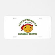 Cute Iranian Smiley Design Aluminum License Plate
