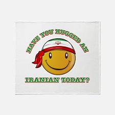 Cute Iranian Smiley Design Throw Blanket
