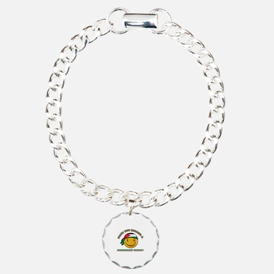 Cute Jordanian Smiley Design Charm Bracelet, One C